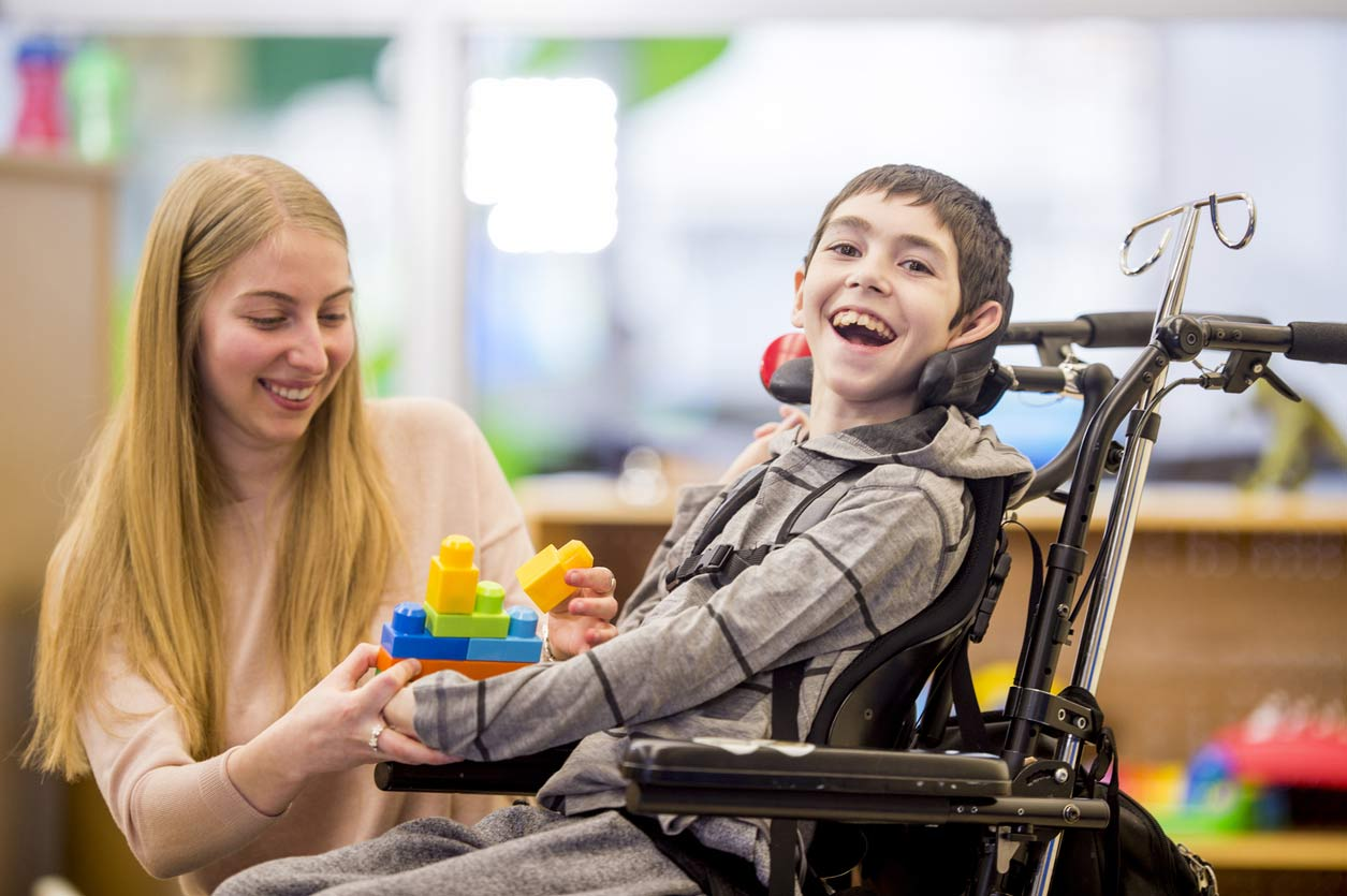 Child with Cerebral Palsy in wheelchair