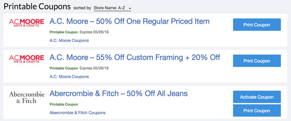 new style 4c3ea e0baa If you re an in-person coupon clipper, there are a list of printable coupons  to choose from as well.