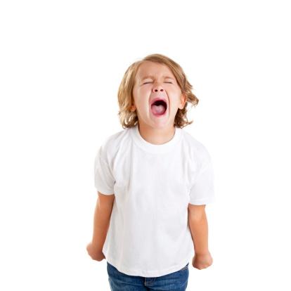 screaming tantrum toddler boy yelling anger