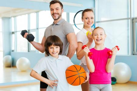 getting in shape together with kids