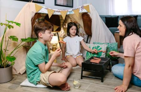 indoor family camping