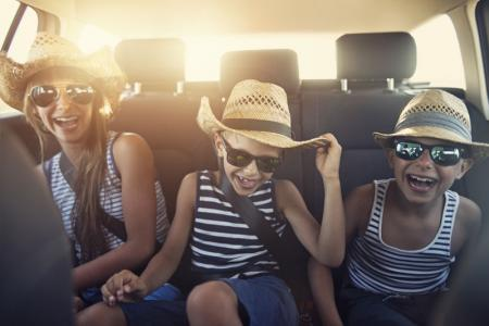 kids going to vacation