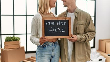 young adults buying home