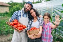 local farmer family