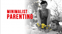 minimalist parenting, mom, daughter, flowers, outside, nature, parenting styles, parenting