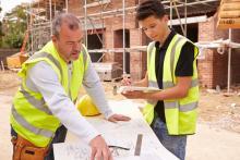 teens doing construction