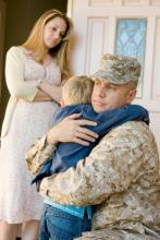 Military dad leaving