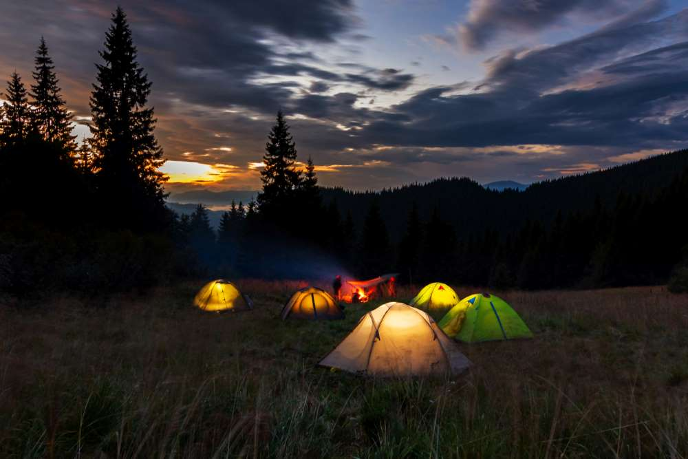 Sleep In A Tent Outside