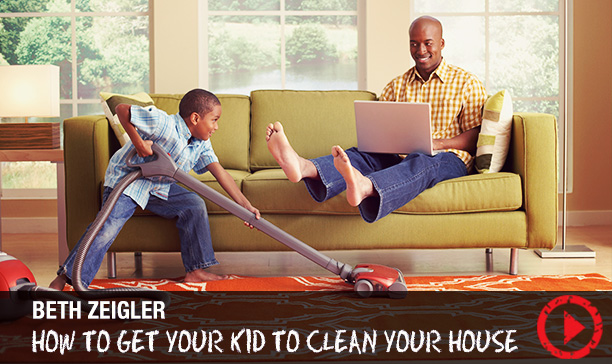 How to get your kids involved in household clean-up