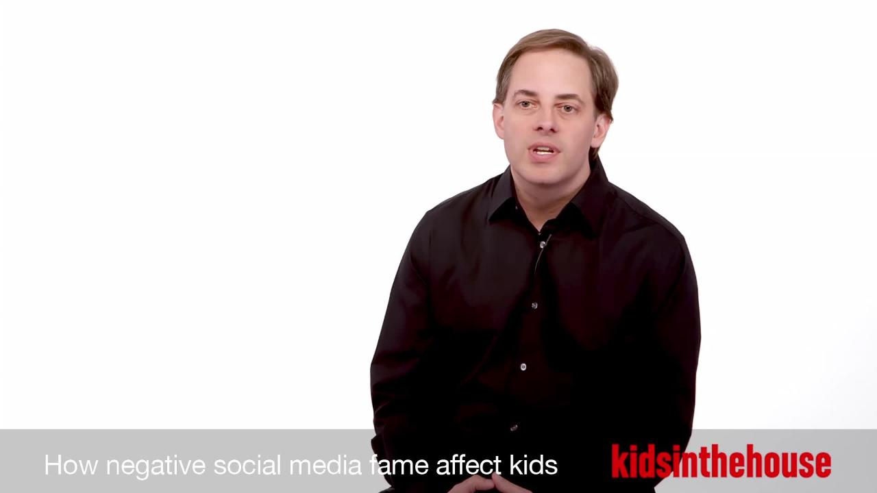 How negative social media fame affects kids