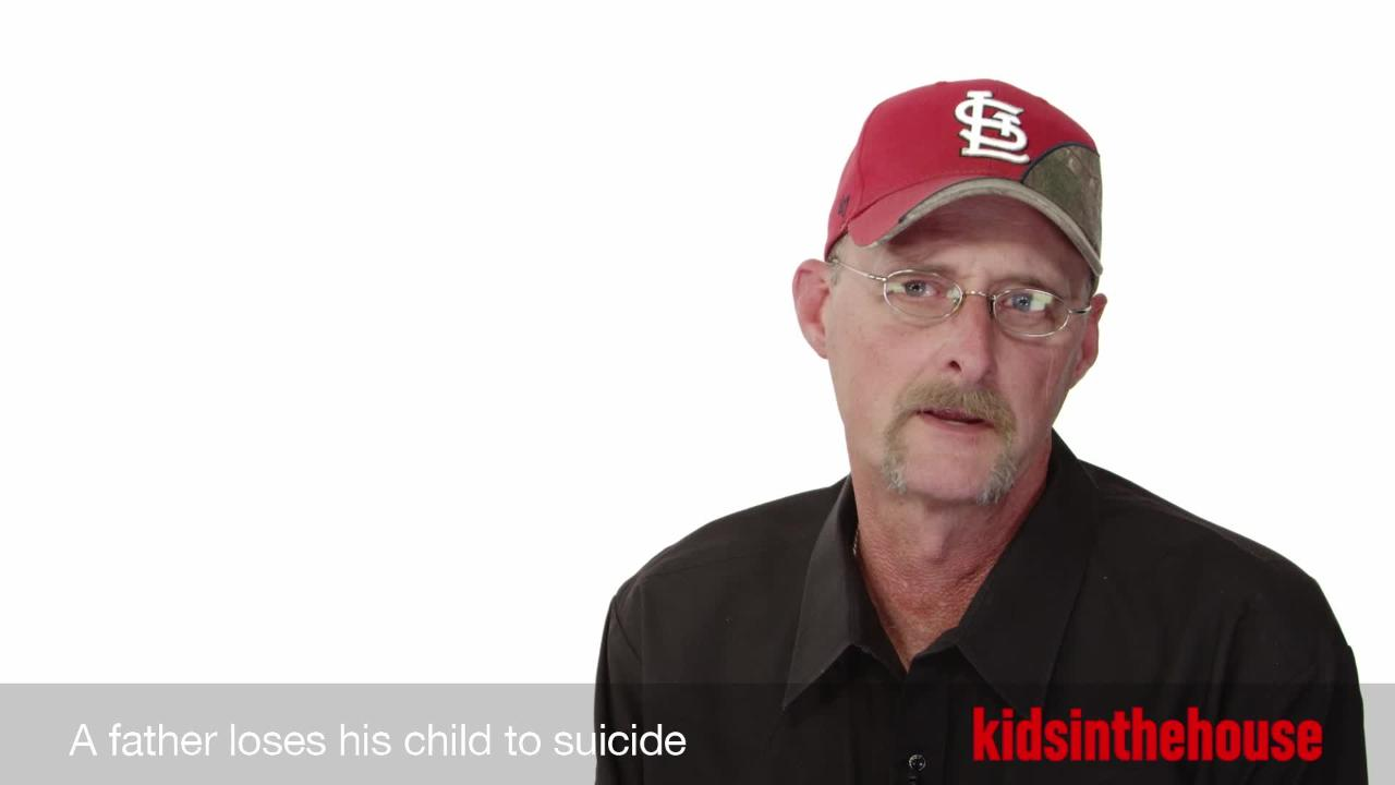 A father loses his child to suicide